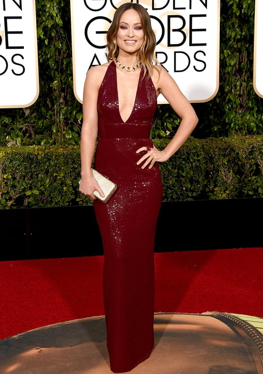 Olivia Wilde at the Golden Globes 2016