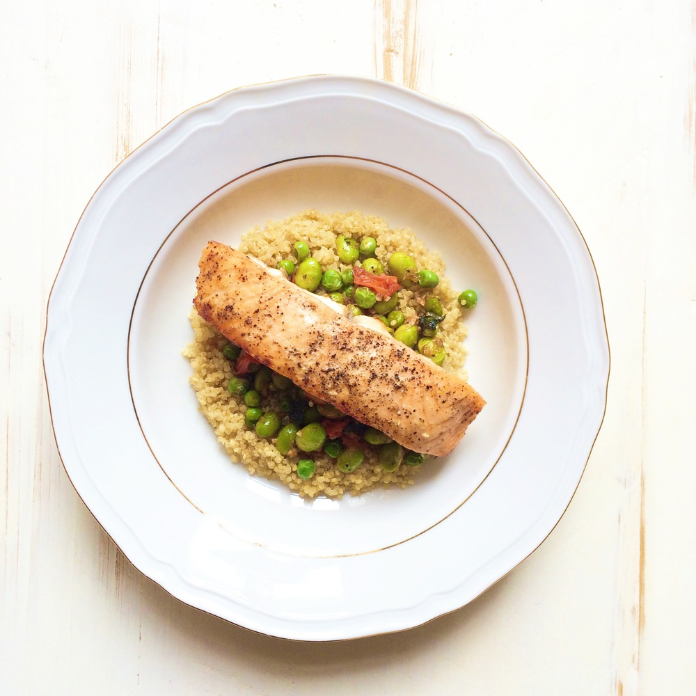 Recipe Of The Week: Quinoa And Baked Salmon