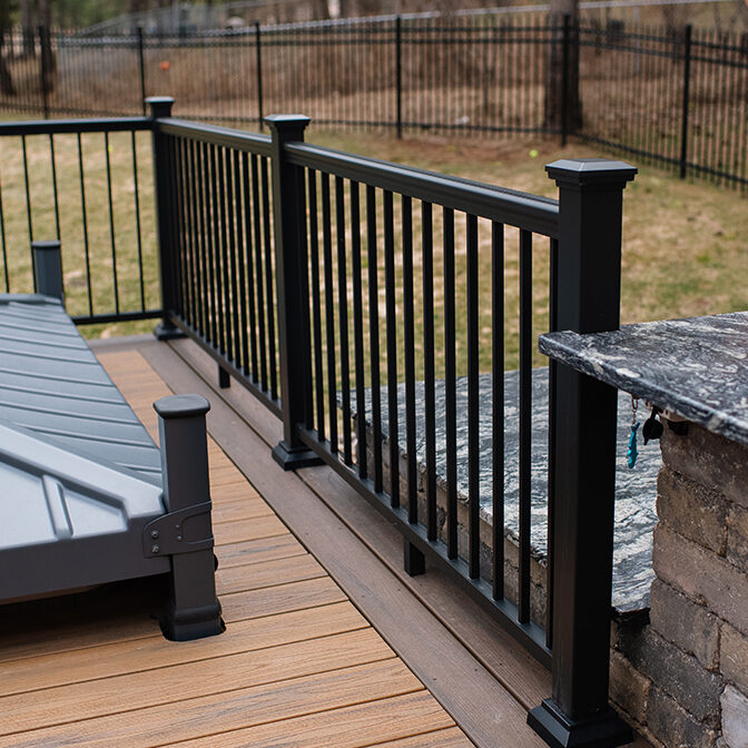 deck railings home depot aria railing