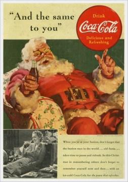 Babbo Natale creato dalla pubblicità della Coca-Cola del 1938