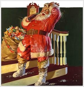 Babbo Natale creato dalla pubblicità della Coca-Cola del 1942