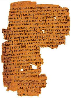 Vangelo di Matteo, frammento di papiro.