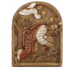 Bassorilievo Gesù nell'orto degli ulivi. Realizzato a mano dalle suore del Monastero di Bethleem.  Fonte dell'immagine( www.holyart.it)