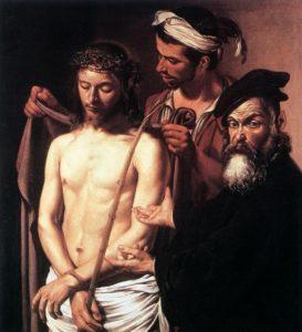 Ecce Homo, Michelangelo Merisi da Caravaggio, ca. 1605, Olio su tela, 128×103 cm, Musei di Strada Nuova - Palazzo Bianco, Genova