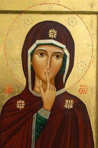 icona maria del silenzio