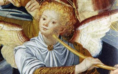 Gaudenzio Ferrari, dettaglio dagli affreschi della cupola del Santuario di Saronno