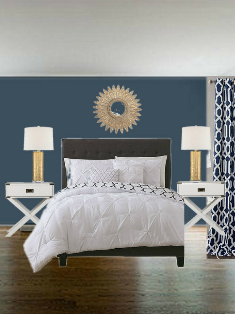 Navy and White Bedroom Inspiration