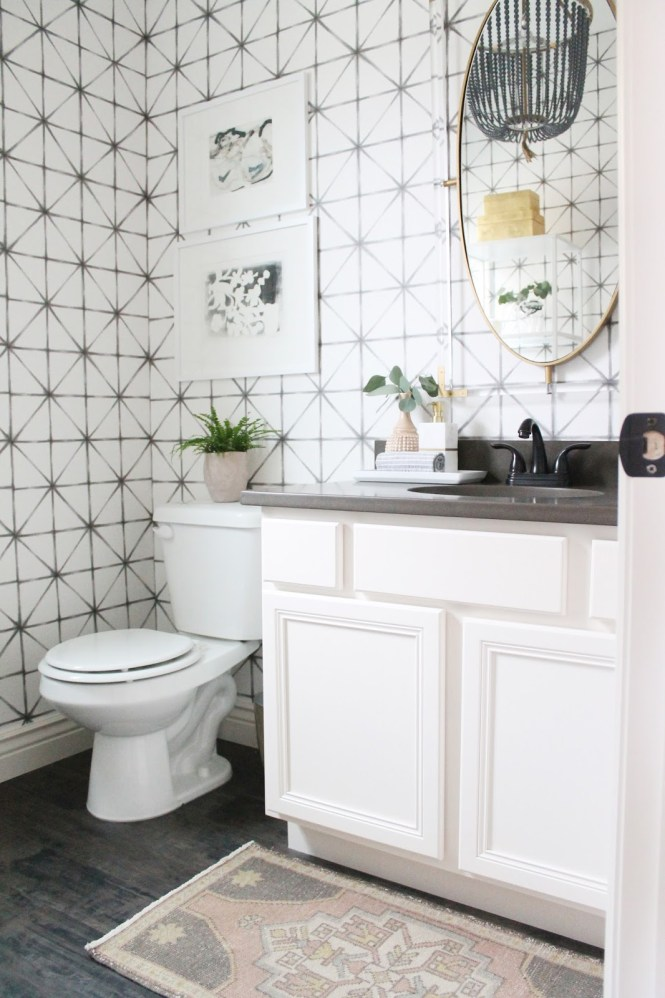 One Room Challenge 12th and White Powder Room