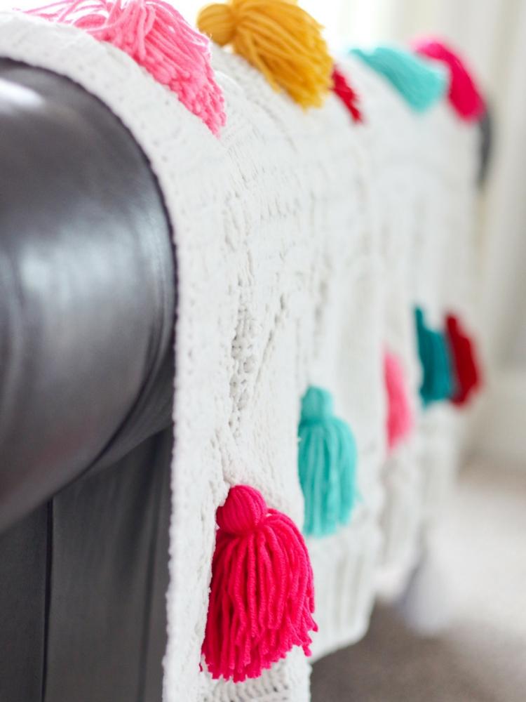 Anthropologie Tassel Blanket DIY
