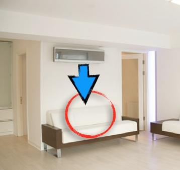 arieggiare-split-sopra-divano