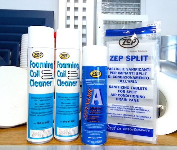 Kit per pulizia climatizzatori ventilconvettori recuperatori di calore