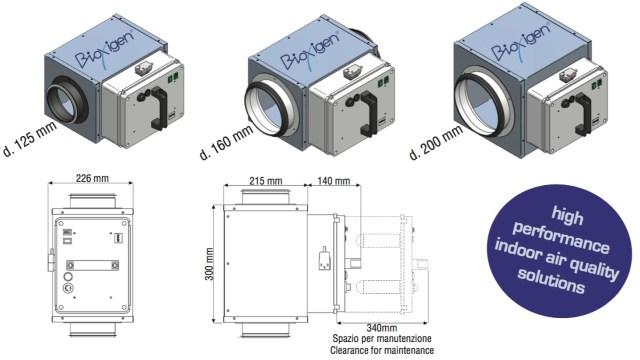 BioxAir - dimensionale