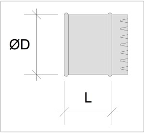 Dimensioni Collarino tubo flessibile