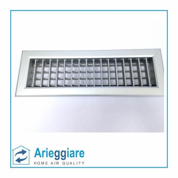 Bocchetta di mandata aria alluminio 350x100