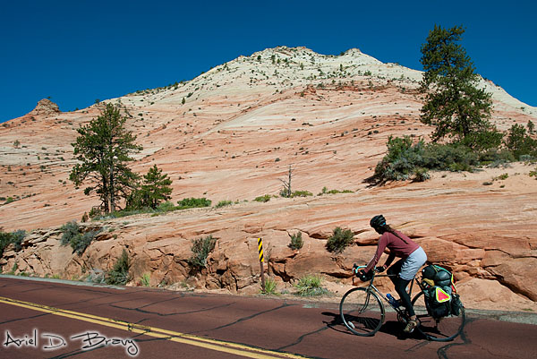 Bicycle touring through Zion