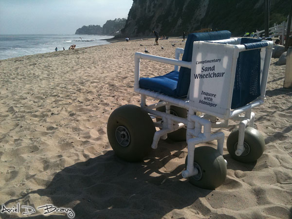 Sand wheelchair