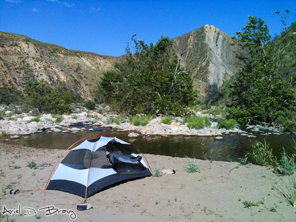 Camping along the Sespe