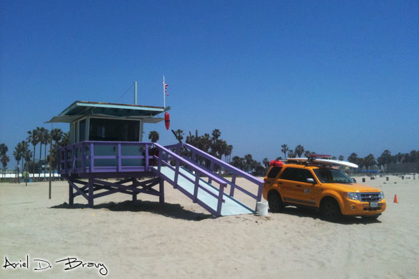 Lifeguard post on Venice Beach
