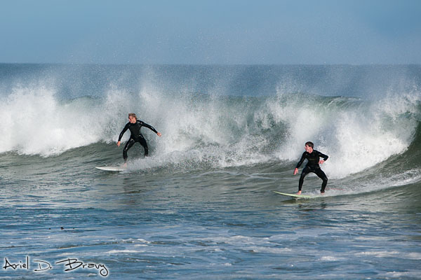 Pair of surfers
