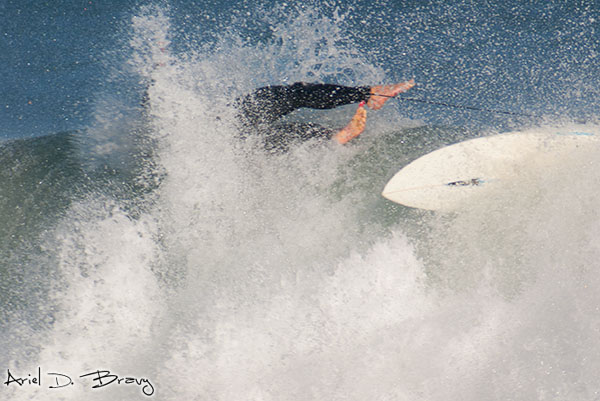 Surfer going down