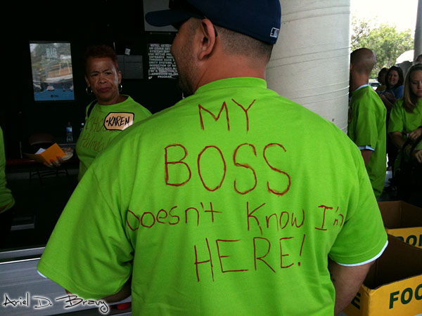 My Boss Doesn't Know I'm Here shirt