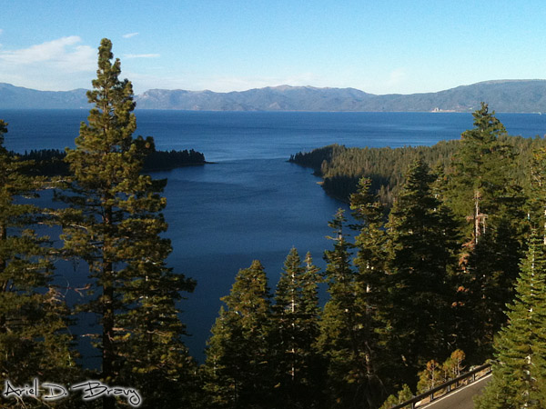 Emerald Bay and Lake Tahoe from the Bayview Campground