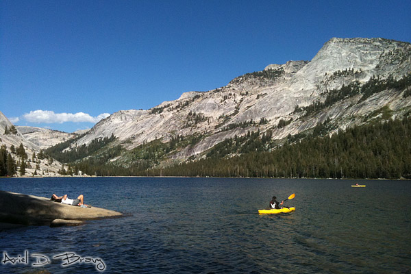 Enjoying Tenaya Lake