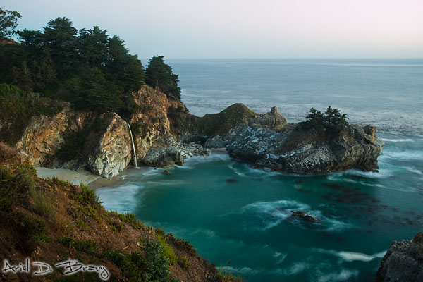 McWay Falls after sunset