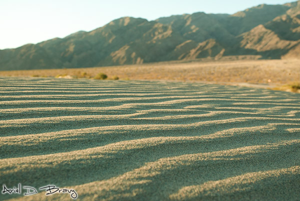 Rippling sand in the mountains