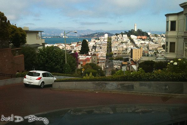 Driving down the Russian Hill