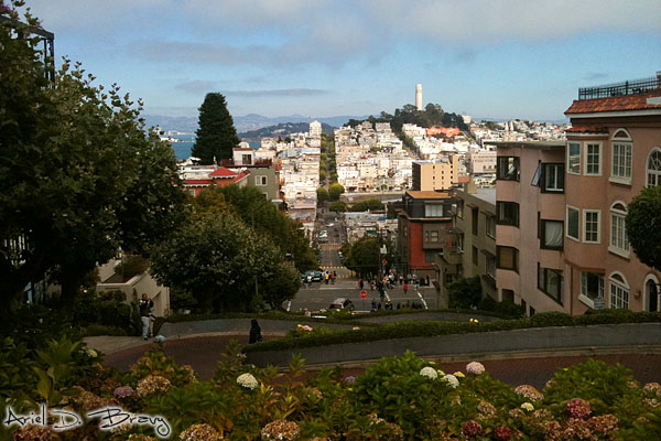Looking down the Russian Hill