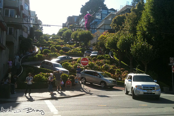 Looking up the Russian Hill