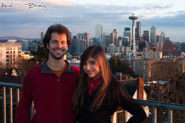 Ariel and Anna at Kerry Park in Seattle