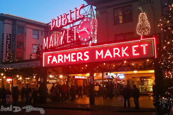 Evening stroll through the Pike Place Market