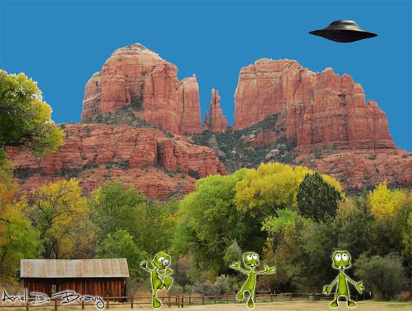 Aliens in Sedona on 11-11-11