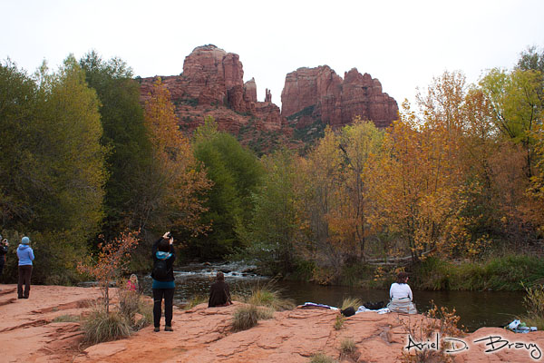 People enjoying Cathedral Rock