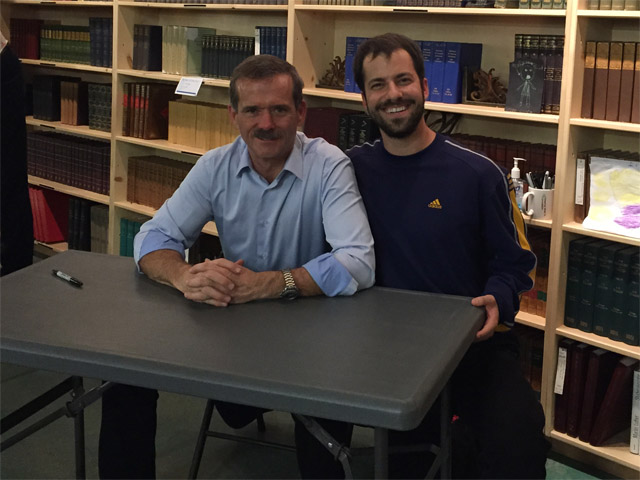 Ariel and Chris Hadfield