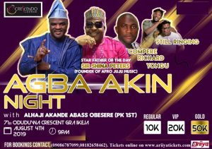 FUJI - AGBA AKIN NIGHT WITH PK 1ST