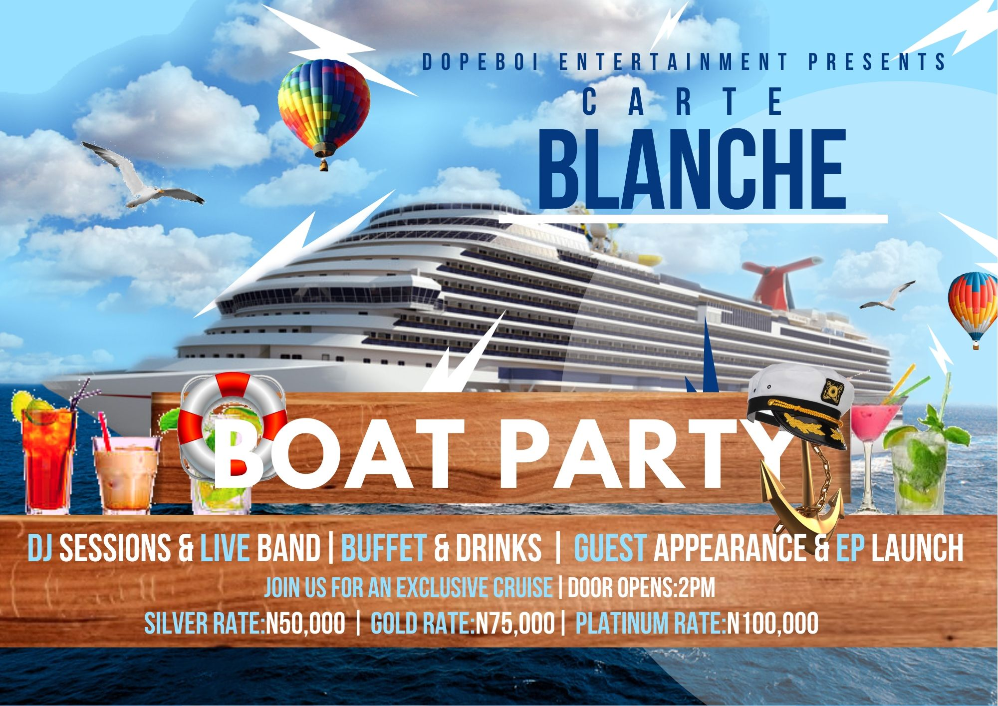 EVENT: CARTE BLANCHE EXCLUSIVE CRUISE PARTY