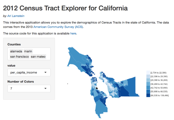New Shiny App for Exploring Census Tract Demographics