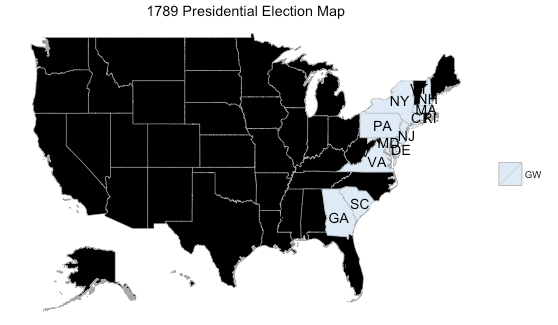 Mapping Historic US Presidential Election Results Rbloggers - Map Us Election Results