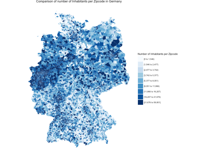 Case Study: Mapping German ZIP Codes in R