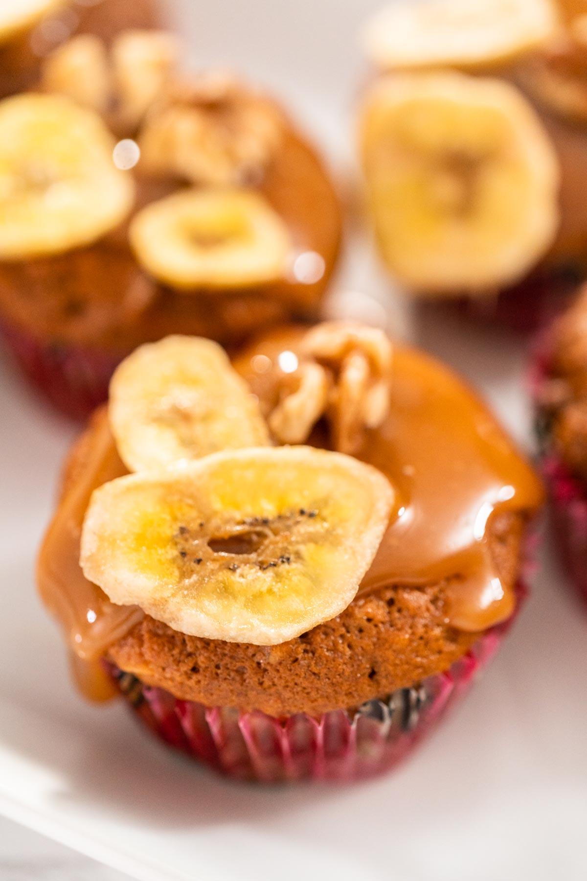Caramel Banana Muffins