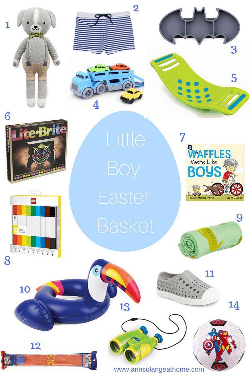 Little Boy Easter Basket Ideas Arinsolangeathome