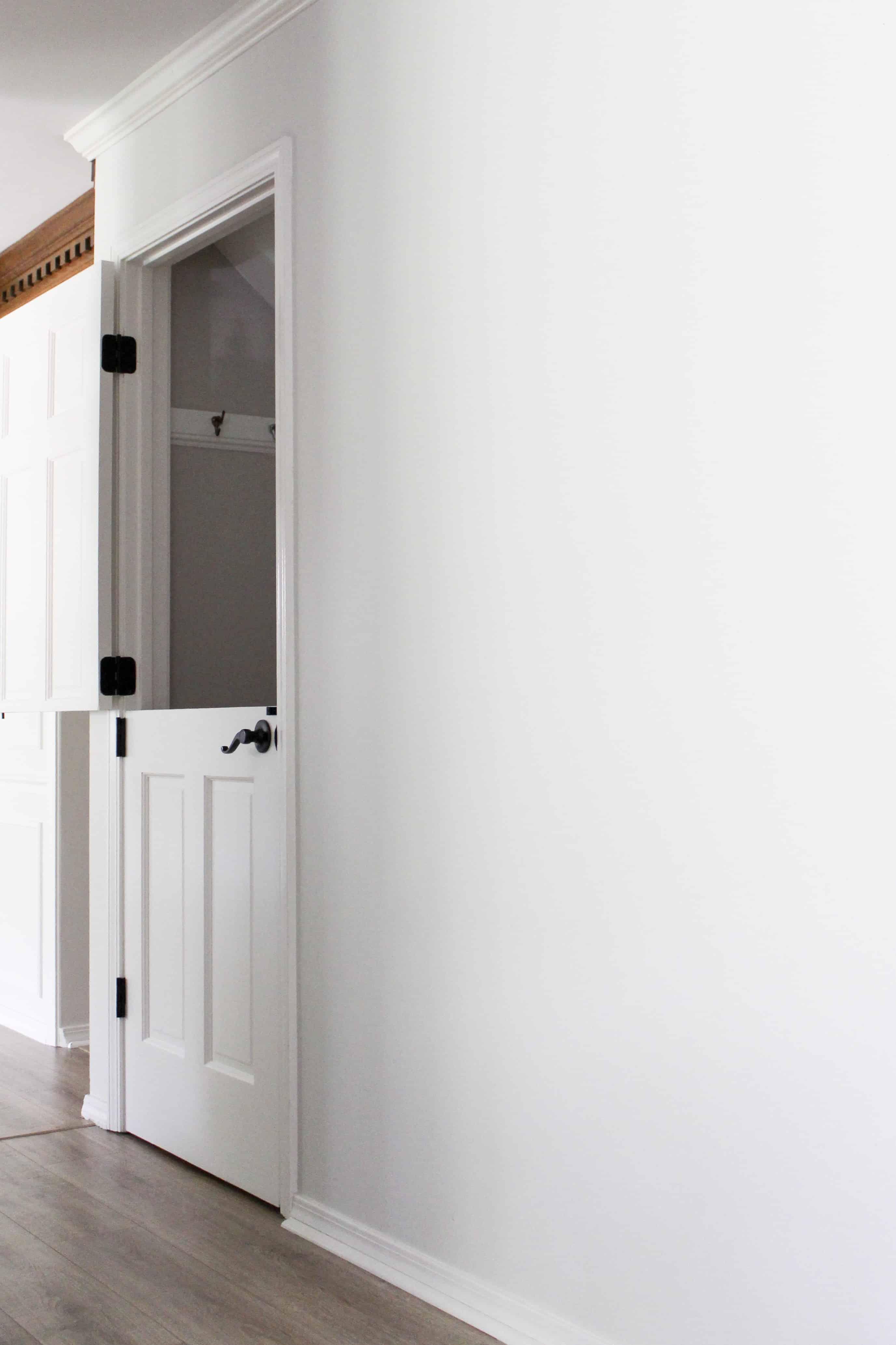 White Dutch Door To Basement
