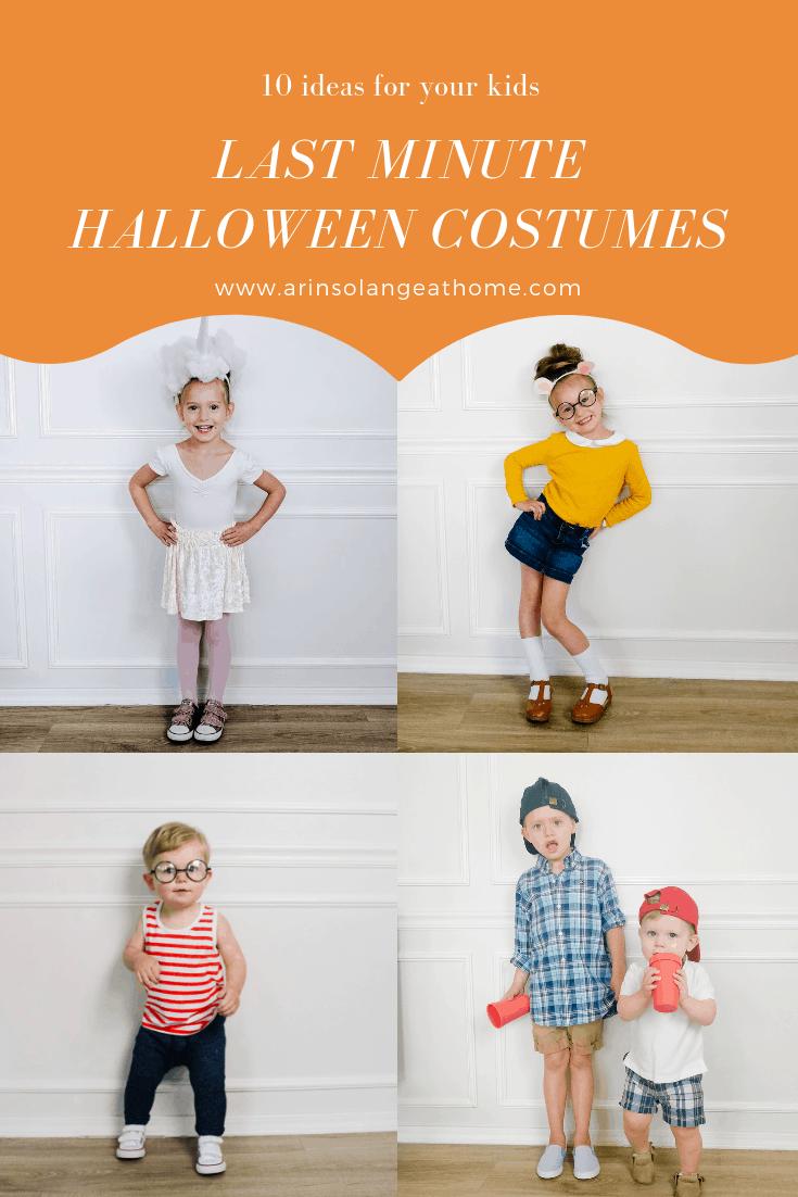 Last Minute Toddler Halloween Costumes Arinsolangeathome