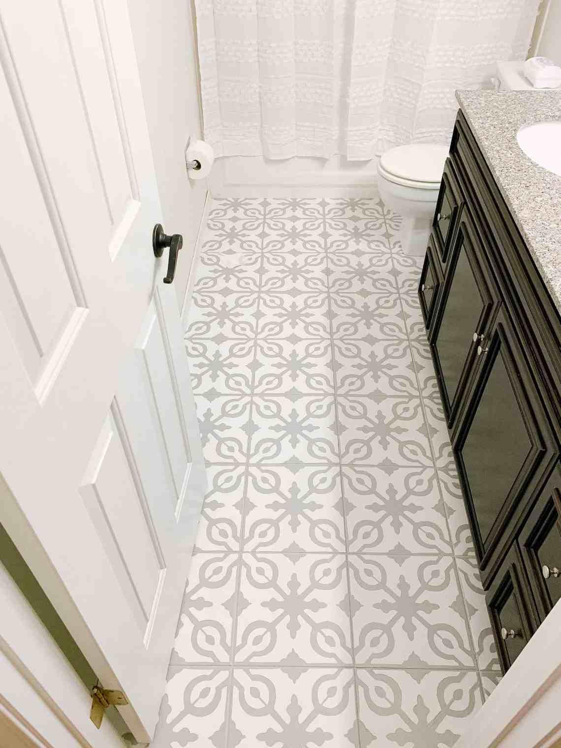 How To Paint Tile Floors Arinsolangeathome