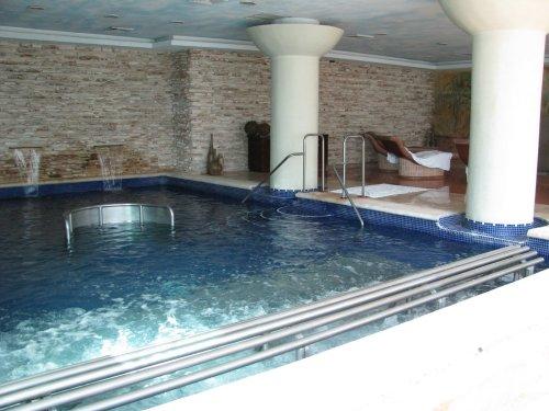 Hot Bubbly Pool at Spa