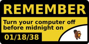 Y2038 -Remember to turn off your computer before midnight on 1/18/2038!