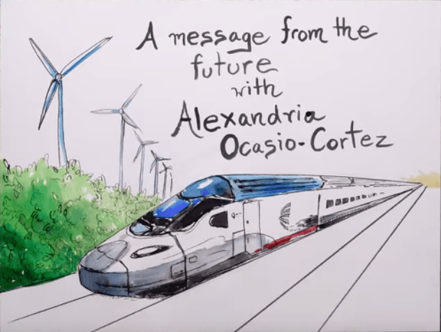 A Message From the Future with Alexandria Ocasio-Cortez (Video)